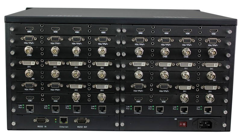 32x32 HDMI DVI SDI HDBaseT Fiber Hybrid Seamless Matrix switch