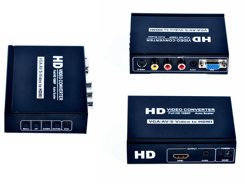 VGA CVBS S-Video to HDMI VGA stereo converter