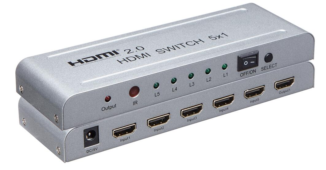 HDMI 2.0v 5*1 switch 4k 60Hz